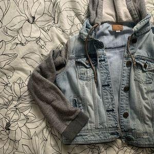 American Eagle Denim/Sweatshirt jacket